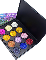 cheap -12 Colors Eyeshadow Palette Powders Shimmer EyeShadow Matte Shimmer Formaldehyde Free Glitter Shine smoky Convenient Daily Makeup Halloween Makeup Party Makeup Cosmetic Gift