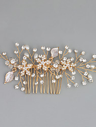 cheap -Imitation Pearl / Rhinestone / Alloy Hair Combs with Rhinestone / Crystal / Faux Pearl 1pc Wedding / Special Occasion Headpiece