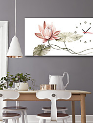 cheap -Modern Style / Rustic Mahogany Square Floral Theme / Fantacy / Abstract Indoor Battery Decoration Wall Clock Analog No
