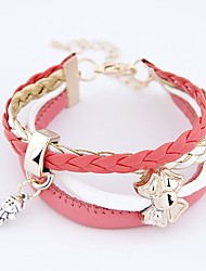 cheap -Women's Wrap Bracelet Leather Bracelet Bowknot Ladies Classic Fashion Leather Bracelet Jewelry White / Black / Pink For Daily