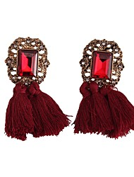 cheap -Women's Drop Earrings Tassel Ladies Tassel European Earrings Jewelry Dark Pink / Light Pink / Dark Green For Daily