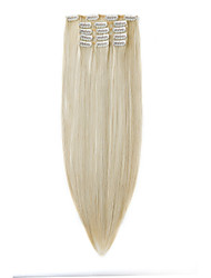 Недорогие -Neitsi Прямой Искусственные волосы 22 дюймы Наращивание волос На клипсе Жен. Повседневные