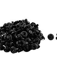 Недорогие -50 шт. 14 х 6 мм. Черный пластиковый бампер.