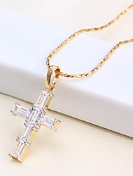 cheap -Men's Women's Pendant Necklace Chain Necklace Cross Basic Rose Gold Plated Rose Gold Necklace Jewelry For Causal Daily