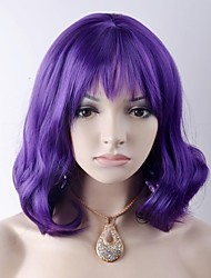 cheap -Synthetic Wig Body Wave Body Wave Wig Medium Length Purple Synthetic Hair Women's Purple