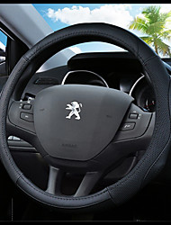 cheap -Steering Wheel Covers Genuine Leather 38cm Blue / Black / Black / Red For Peugeot 307 / 301