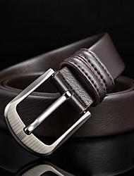 cheap -Men's Leather Waist Belt Buckle