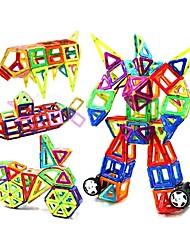 Недорогие -Магнитный конструктор Магнитные плитки Конструкторы 188 pcs Архитектура Транспорт Воин трансформируемый Взаимодействие родителей и детей