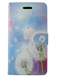 cheap -Case For Huawei P8 Lite Wallet / Card Holder / with Stand Dandelion / Flower Hard PU Leather for Huawei