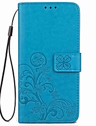 cheap -Case For OnePlus / One Plus 3 One Plus 5 / OnePlus 5T / One Plus 3 Card Holder / with Stand / Embossed Full Body Cases Flower Hard PU Leather