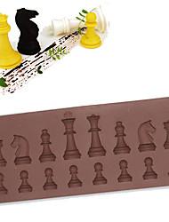 Недорогие -16 полостей шахматы шоколад силиконовые формы торт мороженое испечь