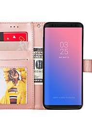 cheap -Phone Case For Samsung Full Body Case S8 Plus S8 S7 edge S7 S6 edge S6 S5 Wallet Card Holder with Stand Solid Colored Hard PU Leather