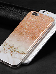 cheap -Case For Apple iPhone X / iPhone 8 Plus / iPhone 8 IMD Back Cover Marble Soft TPU