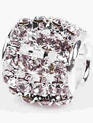 Недорогие -Ювелирные изделия DIY 1 штук Бусины Хрусталь Сплав Белый Цилиндр Шарик 0.5 cm DIY Ожерелье Браслеты