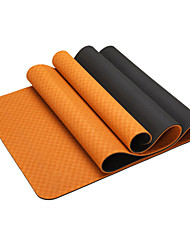 cheap -Yoga Mat Odor Free Eco-friendly Sticky Non Toxic TPE Waterproof Quick Dry Non Slip For Yoga Pilates Exercise & Fitness Purple Orange Green