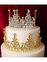 Недорогие -Украшения для торта Сказка Романтика Мода Милый стиль Принцесса металл Свадьба День рождения с Искусственный жемчуг Металлик 1