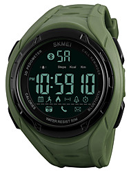 cheap -SKMEI Men's Sport Watch Wrist Watch Digital Watch Japanese Digital Quilted PU Leather Black / Green 50 m Water Resistant / Waterproof Bluetooth Chronograph Digital Casual - Black Green One Year