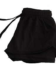 cheap -Women's Running Shorts Athletic Bottoms Spandex Sport Running Outdoor Indoor Wearable Black Fuchsia