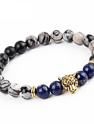 cheap -Men's Women's Onyx Bracelet Statement Vintage Fashion Alloy Bracelet Jewelry Gold / Silver For Party Carnival