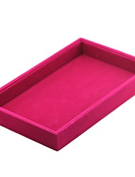 cheap -Jewelry Boxes Cufflink Box Square Linen Black White Red Candy Pink Light Gray Cloth Fabric