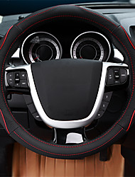 cheap -Steering Wheel Covers Genuine Leather 38cm Blue / Red / Beige For Ford Focus / Escort / Mondeo All years