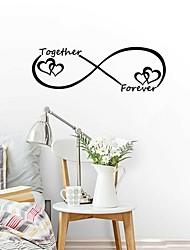 Недорогие -Наклейки Простые наклейки Декоративные наклейки на стены, Винил Украшение дома Наклейка на стену Стена Окно