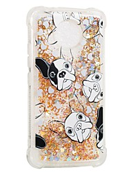 cheap -Case For Motorola Moto G5s / Moto E4 Shockproof / Flowing Liquid / Pattern Back Cover Dog Soft TPU