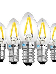 cheap -BRELONG 5 pc E14 2W Dimmable LED Filament Light Bulb AC110V /AC 220V Warm White