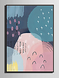 cheap -Framed Canvas / Framed Set - Abstract PVC Illustration