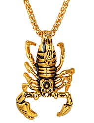 cheap -Men's Women's Pendant Necklace Scorpion Hip-Hop Stainless Steel Gold Silver Necklace Jewelry One-piece Suit For Daily Cosplay Costumes
