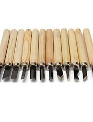 Недорогие -ручная резьба по дереву долота нож инструмент для основных гравюры на дереве, работающие глиняные восковые инструменты и подробные деревообработки