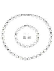 cheap -Women's Jewelry Set European Fashion Elegant Imitation Pearl Earrings Jewelry White For Wedding Party