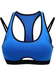 cheap -Women's Sports Bra Sports Bra Top Running Bra Racerback Nylon Yoga Quick Dry Stretchy Moisture Wicking Padded Light Support Green Blue