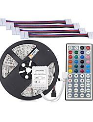 Недорогие -Комплекты светильников zdm® 5m / полосовые светильники rgb 300 светодиодов 5050 smd 10 мм 1 пульт дистанционного управления с 44 клавишами / 4 разъема, режущий элемент rgb