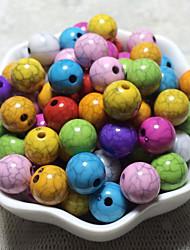 Недорогие -Ювелирные изделия DIY 100 штук Бусины Акрил Цвет радуги Круглый Шарик 1 cm DIY Ожерелье Браслеты