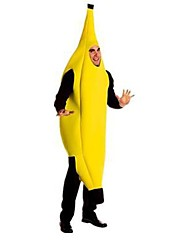cheap -Banana Cosplay Costume Party Costume Fancy Costume Men's Women's Cosplay Funny & Reluctant Halloween Carnival Festival / Holiday Polyster Outfits Yellow Color Block