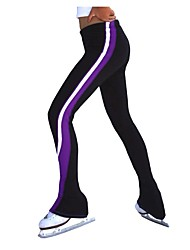 cheap -Figure Skating Pants Women's Girls' Ice Skating Pants / Trousers Violet Blue Pink Spandex Stretchy Training Competition Skating Wear Solid Colored Long Sleeve Ice Skating Figure Skating