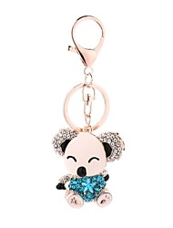 cheap -Keychain Bear Casual Cartoon Ring Jewelry Purple / Red / Light Blue For Gift Daily