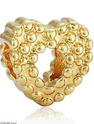 Недорогие -Ювелирные изделия DIY 1 штук Бусины Сплав Золотой Серебряный Сердце Шарик 0.2 cm DIY Ожерелье Браслеты