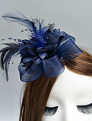 cheap -Feather / Net Fascinators / Flowers / Hats with Feathers / Fur / Floral 1pc Wedding / Special Occasion / Horse Race Headpiece