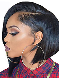 cheap -Synthetic Wig Straight Straight Bob Wig Short Natural Black Synthetic Hair Women's African American Wig Black