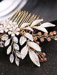 cheap -Rhinestone / Alloy with Acrylic / Rhinestone / Flower 1pc Wedding Headpiece