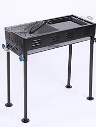 Недорогие -Походная горелка Походная плита Все для приготовления пищи на улице Складной за 3-4 человека Нержавеющая сталь на открытом воздухе Походы Черный