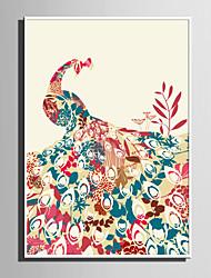 cheap -Framed Canvas / Framed Set - Abstract / Animals PVC Illustration