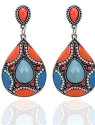 cheap -Women's Synthetic Tanzanite Drop Earrings Drop Ladies Bohemian Ethnic Boho Resin Imitation Diamond Earrings Jewelry Green / Blue For Daily Going out