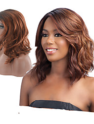 cheap -Synthetic Wig Wavy Body Wave Body Wave Wavy Wig Ombre Black / Medium Auburn Synthetic Hair Highlighted / Balayage Hair Natural Hairline Black Brown