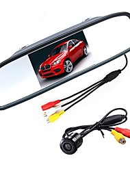 cheap -ZIQIAO 4.3 Inch Digital TFT LCD Mirror Monitor and CCD HD Car Rear View Camera