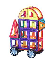 cheap -Magnetic Blocks Magnetic Tiles Building Blocks 32 pcs Classic Theme Car Transformable New Design Cartoon Boys' Girls' Toy Gift