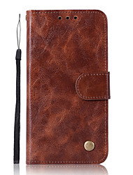 cheap -Case For Motorola Moto Z2 play / Moto Z Force / Moto X4 Wallet / Card Holder / with Stand Full Body Cases Solid Colored Hard PU Leather / Moto G5 Plus / Moto G4 Plus