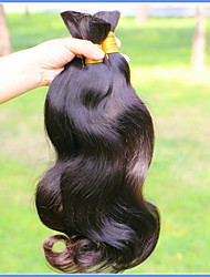 cheap -Virgin Human Hair Bulk Hair / Hair weave / Remy Weaves Natural / Best Quality / Halo Extensions Body Wave Brazilian Hair 500 g More Than One Year Professional